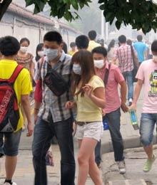 雾霾弥漫 中国多地污染严重